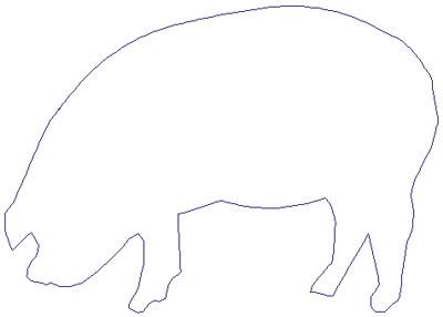 "Embroidery Design: Reverse App Pig5.50"" x 3.89"""