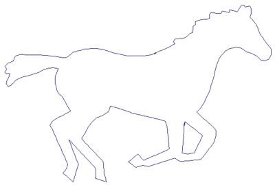 "Embroidery Design: Reverse App Horse6.89"" x 4.57"""