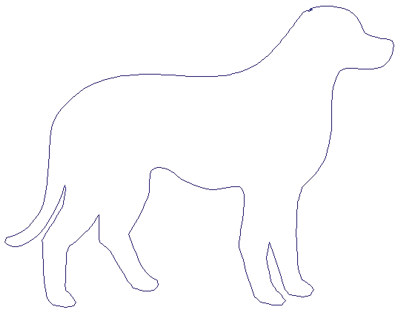 "Embroidery Design: Reverse App Dog6.19"" x 3.19"""