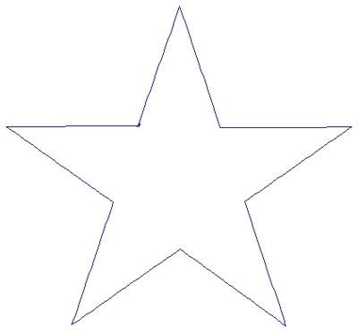 "Embroidery Design: Reverse App Star4.79"" x 4.45"""