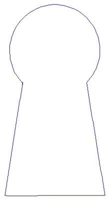 "Embroidery Design: Reverse App Keyhole2.52"" x 4.79"""