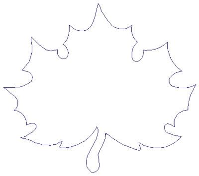 "Embroidery Design: Reverse App Maple Leaf5.43"" x 4.80"""
