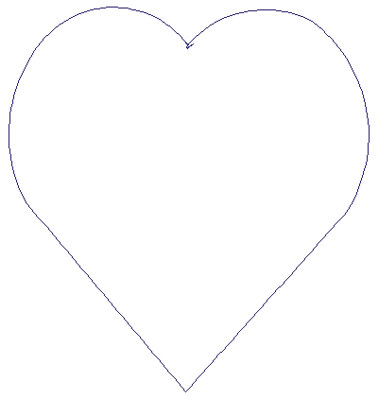 "Embroidery Design: Reverse App Heart4.49"" x 4.79"""
