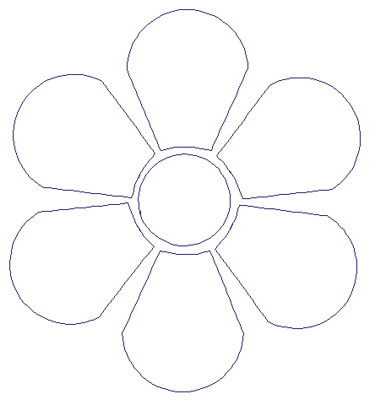 """Embroidery Design: Reverse App Floral4.90"""" x 5.35"""""""