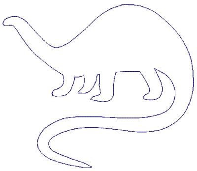 "Embroidery Design: Reverse App Dinosaur5.59"" x 4.80"""