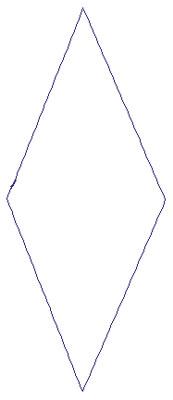 "Embroidery Design: Reverse App Diamond2.03"" x 4.89"""