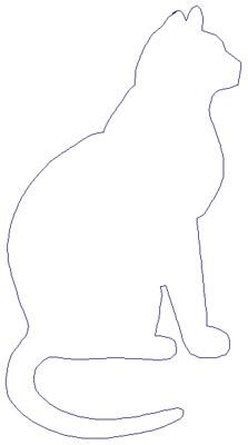 "Embroidery Design: Reverse App Cat3.66"" x 6.73"""