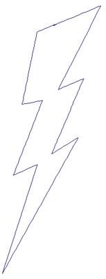 "Embroidery Design: Reverse App Lightning2.25"" x 6.10"""