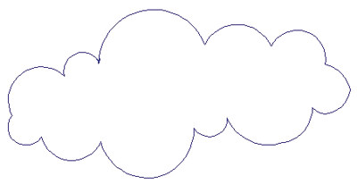"""Embroidery Design: Reverse App Clouds5.11"""" x 2.52"""""""