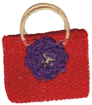 """Embroidery Design: Red Purse2.08"""" x 2.31"""""""