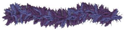 "Embroidery Design: Purple Feather Boa3.79"" x 0.93"""