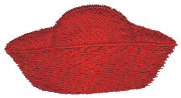"Embroidery Design: Red Hat 22.39"" x 1.21"""