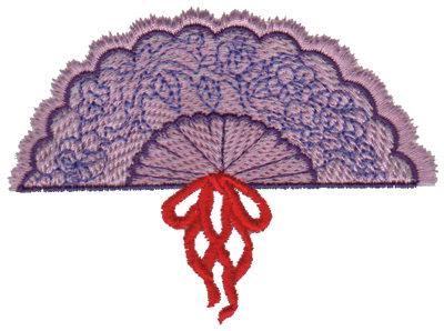 "Embroidery Design: Elegant Fan3.90"" x 2.87"""