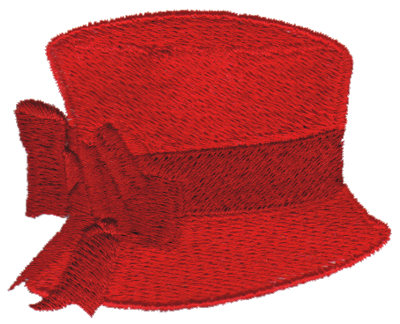 """Embroidery Design: Red Hat 32.93"""" x 2.28"""""""
