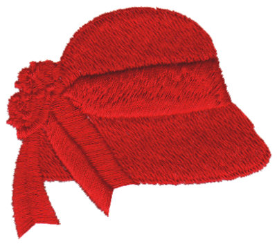 "Embroidery Design: Red Hat 42.65"" x 2.36"""