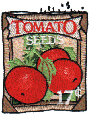 """Embroidery Design: Tomato Seeds 3.39""""h X 2.77""""w"""