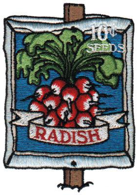 "Embroidery Design: Radish Seeds2.76"" x 3.85"""