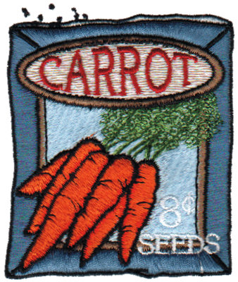 """Embroidery Design: Carrot Seeds2.82"""" x 3.36"""""""