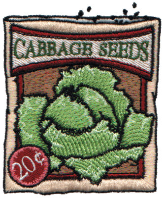 """Embroidery Design: Cabbage Seeds2.77"""" x 3.39"""""""