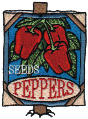 """Embroidery Design: Pepper Seeds2.82"""" x 3.80"""""""