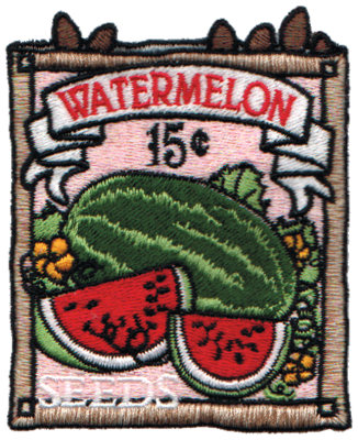 """Embroidery Design: Watermelon Seeds2.80"""" x 3.40"""""""