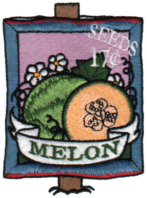"""Embroidery Design: Melon Seeds2.80"""" x 3.78"""""""