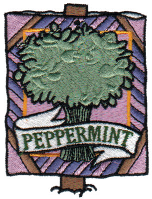 """Embroidery Design: Peppermint2.77"""" x 3.63"""""""