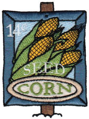 "Embroidery Design: Corn Seed2.77"" x 3.74"""