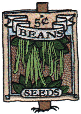 """Embroidery Design: Bean Seeds2.70"""" x 3.81"""""""