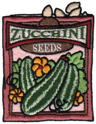 """Embroidery Design: Zucchini Seeds2.73"""" x 3.48"""""""