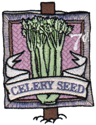 """Embroidery Design: Celery Seed2.86"""" x 3.82"""""""