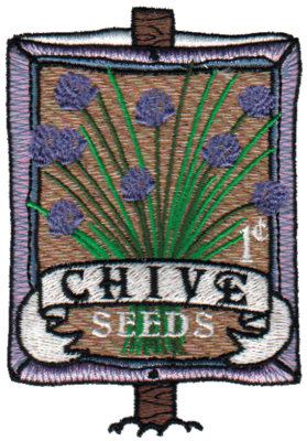 """Embroidery Design: Chive Seeds2.68"""" x 3.80"""""""