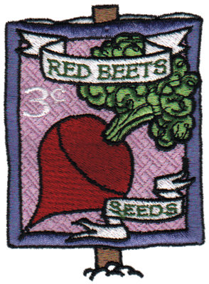 """Embroidery Design: Red Beets Seeds2.74"""" x 3.71"""""""