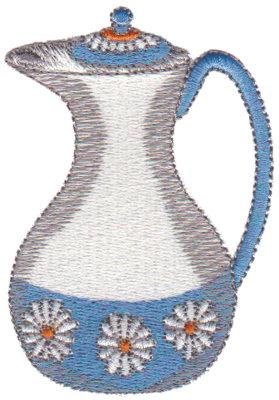 "Embroidery Design: Daisy Carafe2.18"" x 3.10"""