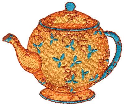 """Embroidery Design: Elegant Teapot3.03"""" x 2.58"""""""