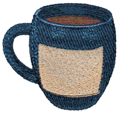 "Embroidery Design: Cup of Java2.52"" x 2.38"""