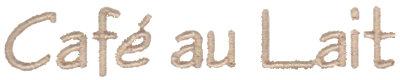 """Embroidery Design: Cafe au Lait3.48"""" x 0.60"""""""