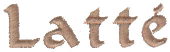 "Embroidery Design: Latte2.18"" x 0.61"""