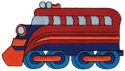 "Embroidery Design: Engine Car4.42"" x 2.40"""
