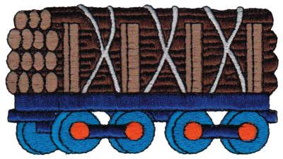 "Embroidery Design: Logging Car4.09"" x 2.20"""