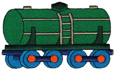 "Embroidery Design: Tanker3.90"" x 2.33"""