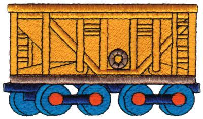 "Embroidery Design: Box Car4.09"" x 2.22"""
