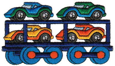 "Embroidery Design: Cars3.93"" x 2.24"""