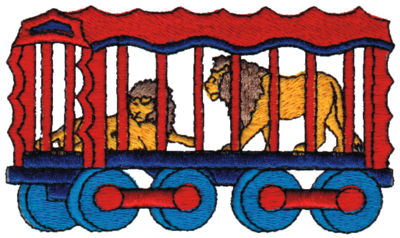 "Embroidery Design: Lion Cage3.92"" x 2.26"""