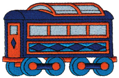 "Embroidery Design: Passenger Car 13.89"" x 2.47"""