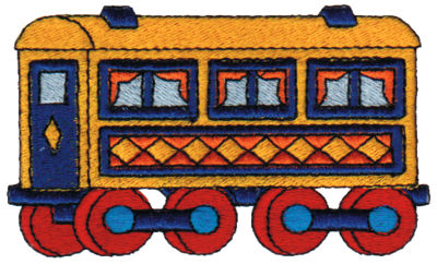 "Embroidery Design: Passenger Car 23.89"" x 2.30"""