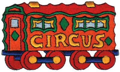 "Embroidery Design: Circus Wagon3.97"" x 2.28"""