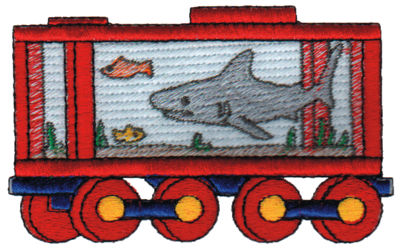 "Embroidery Design: Shark Tank3.95"" x 2.39"""