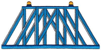 """Embroidery Design: Train Bridge6.78"""" x 3.31"""""""