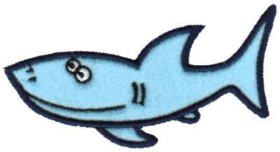 "Embroidery Design: Shark Applique4.03"" x 2.36"""